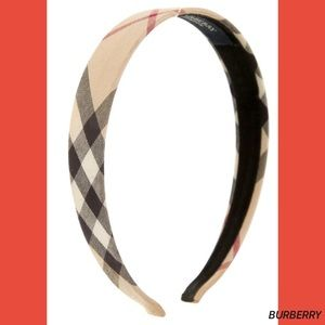 SOLD! BURBERRY Nova Check Plaid Women's Headband